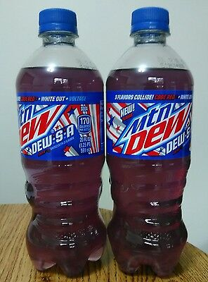 2 - 20 Ounce Dew S A Three Flavors Collide Mountain Dew Limited Edition NEW!