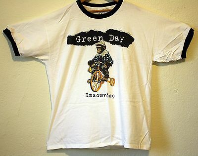 Vintage Green Day Ringer 1995 Insomniac XL Tour Shirt Billie Joe Punk 90s Rare!