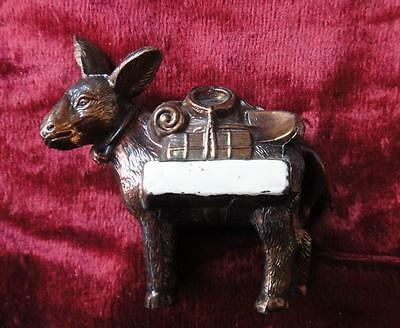 Unusual Souvenir Copper Propsector Donkey or Mule