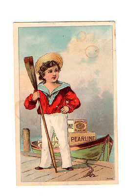 1880/1890 Vintage Victorian Trade Card ~ Pearline Soap ~ James Pyle NY