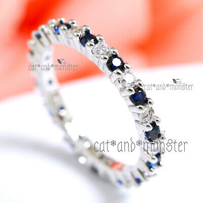 18K White Gold Gf Silver 2Ct Square Solitaire Lab Diamond Mens Lady Wedding Ring
