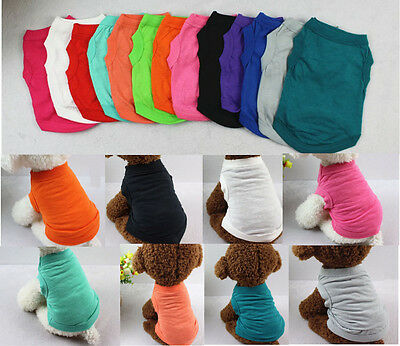 XS-3XL Cotton Pet Clothes Shirt Dog T Shirt Cat Poodle Puppy Bulldog Shirt Vest