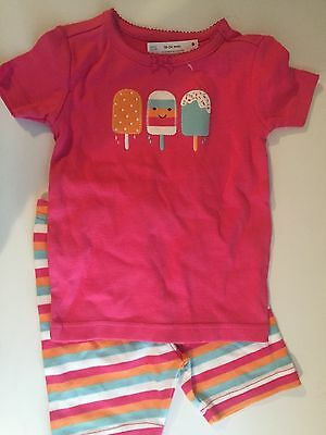 NWT Gymboree Gymmies Ice Cream Pajamas Summer Shorts 18-24 Months Girl 2 Piece