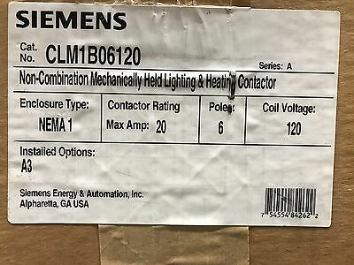 Siemens CLM1B06120 Contactor Lighting/Heating ** New In Box, Free Shipping **
