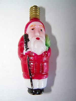 Antique Or Vintage Santa Light With Decent Paint Nice Santa And Double Sided
