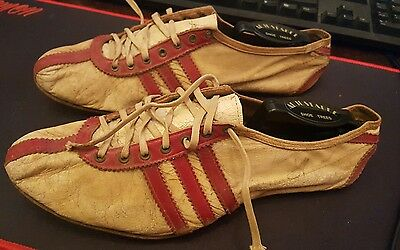 Rare Vintage 1950's Adidas Track Shoes Clifford Severn Leather Sole