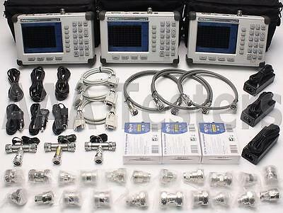 Lot of 3 Anritsu S331D SiteMaster Cable & Antenna Analyzer Opt3 Color 7/16 Din