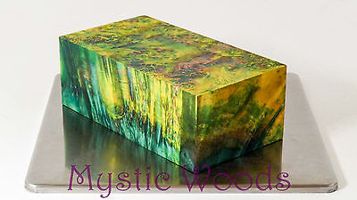 Pink, Yellow, Turquoise Dyed  - Premium Stabilized Wood