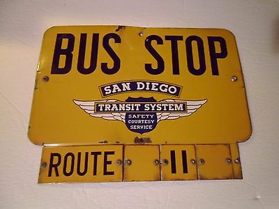 Gas & Oil US Bus Stop San Diego ROUTE   11