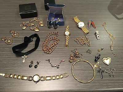 Assorted costume Jeweller*watches/rings/pendants/earrings/bracelets**Used cond**