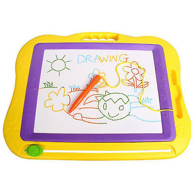 Magnetic Erasable Colorful Drawing Board Large Size Doodle Sketch Y8
