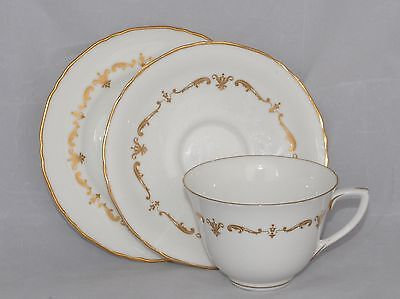 Royal Worcester GOLD CHANTILLY Trio
