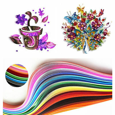 120 Stripes Quilling Paper 3mm Width Solid Color Origami Paper DIY Hand Craft YH