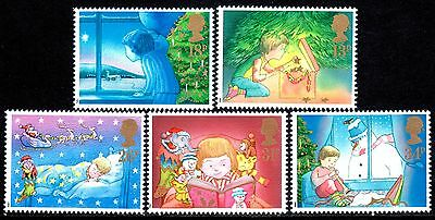 GB Stamps 1987 Christmas Set of 5. SG1375 - 1379 Mint