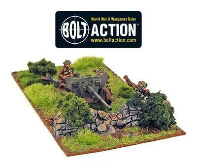 Warlord Games Bolt Action British Army 6 Pounder AT Gun 28mm Scale Miniatures