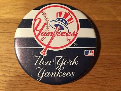 Vintage New York Yankees Pin Badge Official Baseball Made In USA By Asco