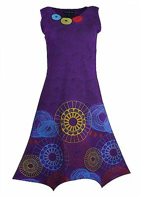 Women's Sleeveless Pixie Style Dress With Colorful Prints