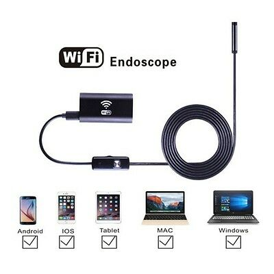 8mm 1m 6LED Waterproof Wifi Android iPhone Endoscope Borescope Inspection Camera