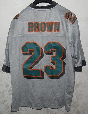 Maglia Shirt Jersey Nfl American Football Miami Dolphins Brown Away Size 3Xl