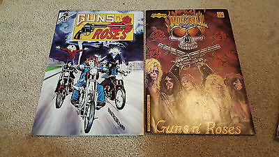 Guns N Roses Comic Book Lot of 2 1st Printing Rock and Roll and 2nd Rock Fantasy