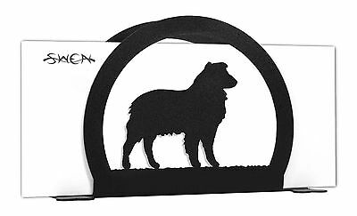 Australian Shepherd Dog Black Metal Napkin or Letter Holder *NEW*