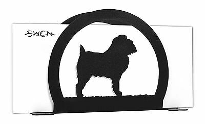 Brussels Griffon Dog Black Metal Napkin or Letter Holder *NEW*