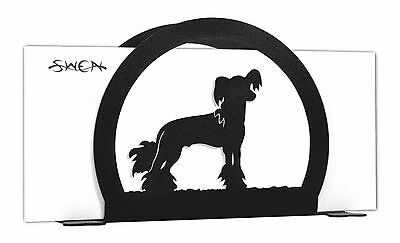 Chinese Crested Dog Black Metal Napkin or Letter Holder *NEW*