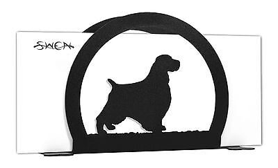 English Springer Spaniel Dog Black Metal Napkin or Letter Holder *NEW*