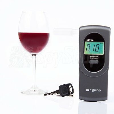 NEW Certified breathalyser AlcoFind DA-7100 / BACtrack Element + 50 mouthpieces