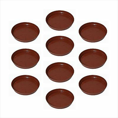 "Planters Plastic Bottom Trays 6"" Plant Pot Tray Ghamle Ki Tray Pack of 10"