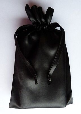 Black Satin Drawstring Tarot Pouch Bag