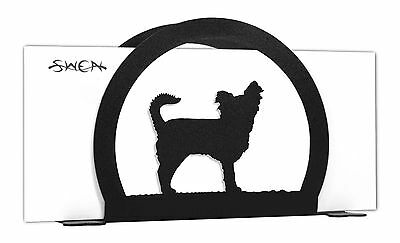 Long Hair Chihuahua Dog Black Metal Napkin or Letter Holder *NEW*