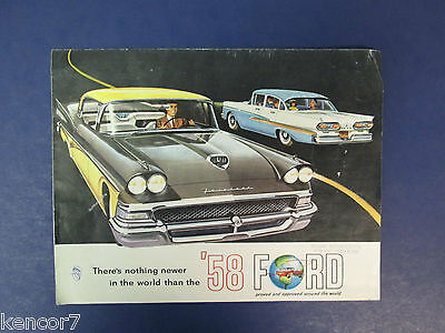 1958 Ford Full Line Sales Brochure D6923