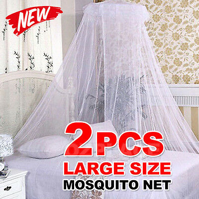 2X Bed Curtain Dome Mosquito Insect Stopping Double Single Queen Canopy Net