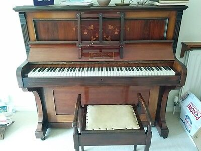 Upright Robert Morley & Sons piano and matching stool