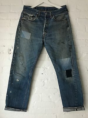 VTG 60's Big E Levis 501xx  Selvedge Denim Jeans 66 70's Redline 32 x 30 USA