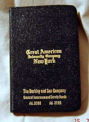 Vintage 1936 Great American Indemnity Company, New York Pocket Diary - Mint!