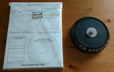 CD Stomper with Unused Labels / Jewel Case Inserts