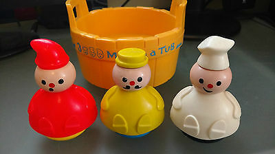 Vintage Fisher Price - Three Men in a Tub - Toy #142 - Year 1976+