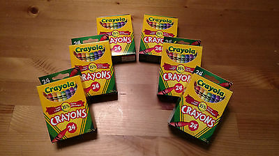 Crayola Crayons 24 count x 6 PACK = 144 Crayons!!!! - NEW IN BOX