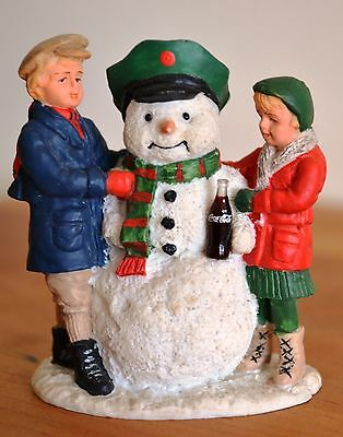 """1992 COCA-COLA TOWN SQUARE ACCESSORIES """"THIRSTY THE SNOWMAN"""" - Used"""