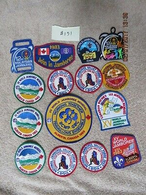 Boy Scout Huge Lot of  US and World and Foreign Jamboree Patches