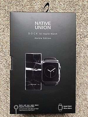 Native Union Charging Dock in Marble Black Edition For Apple Watch Series 1 2