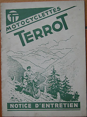 Terrot . 350 Hct / 500 Rgst . Notice Entretien . 36 Pages . Format : 13,5 X 18