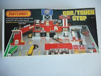 1982 Matchbox Highway Express Car And Truck Stop Playset Vintage Factory Sealed!