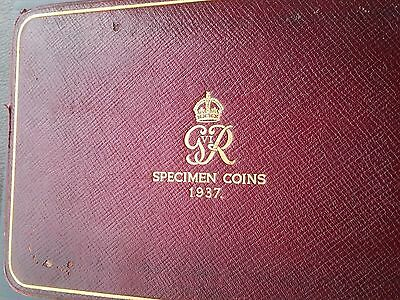 George V1 1937 Specimen Set Of Coins Crown-Farthing + Maundy (British)