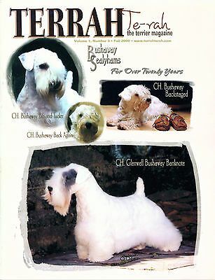 Dog Magazine 2000 Sealyham Terrier on Cover TERRAH Terrier Magazine SCARCE