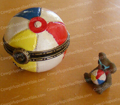 Gibget's Beachball w/ Shades McNibble Treasure Box (Boyds by Enesco, 4033637)