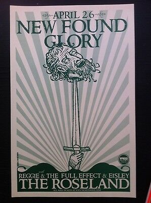 New Found Glory Eisley NFG Rare Original Punk Flyer Concert Tour Gig Poster