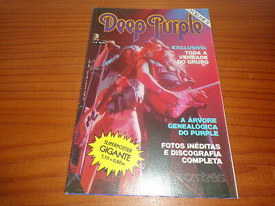 Deep Purple - Poster Mag Som Tres Volume Ii From 80´s - 1,10M X 0,80M - Brazil